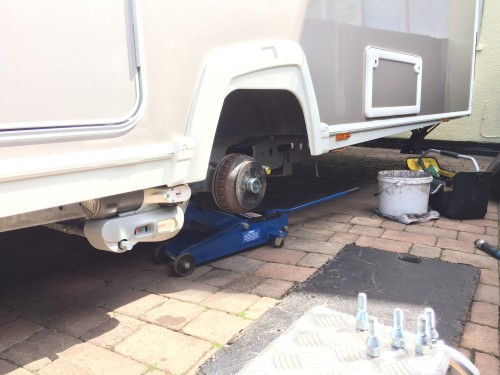 Caravan wheel replacement