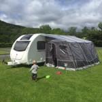 Caravan tent attachment