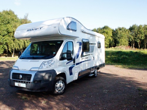 Swift motorhome to hire